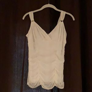 EXPRESS tank with light gold sequined design